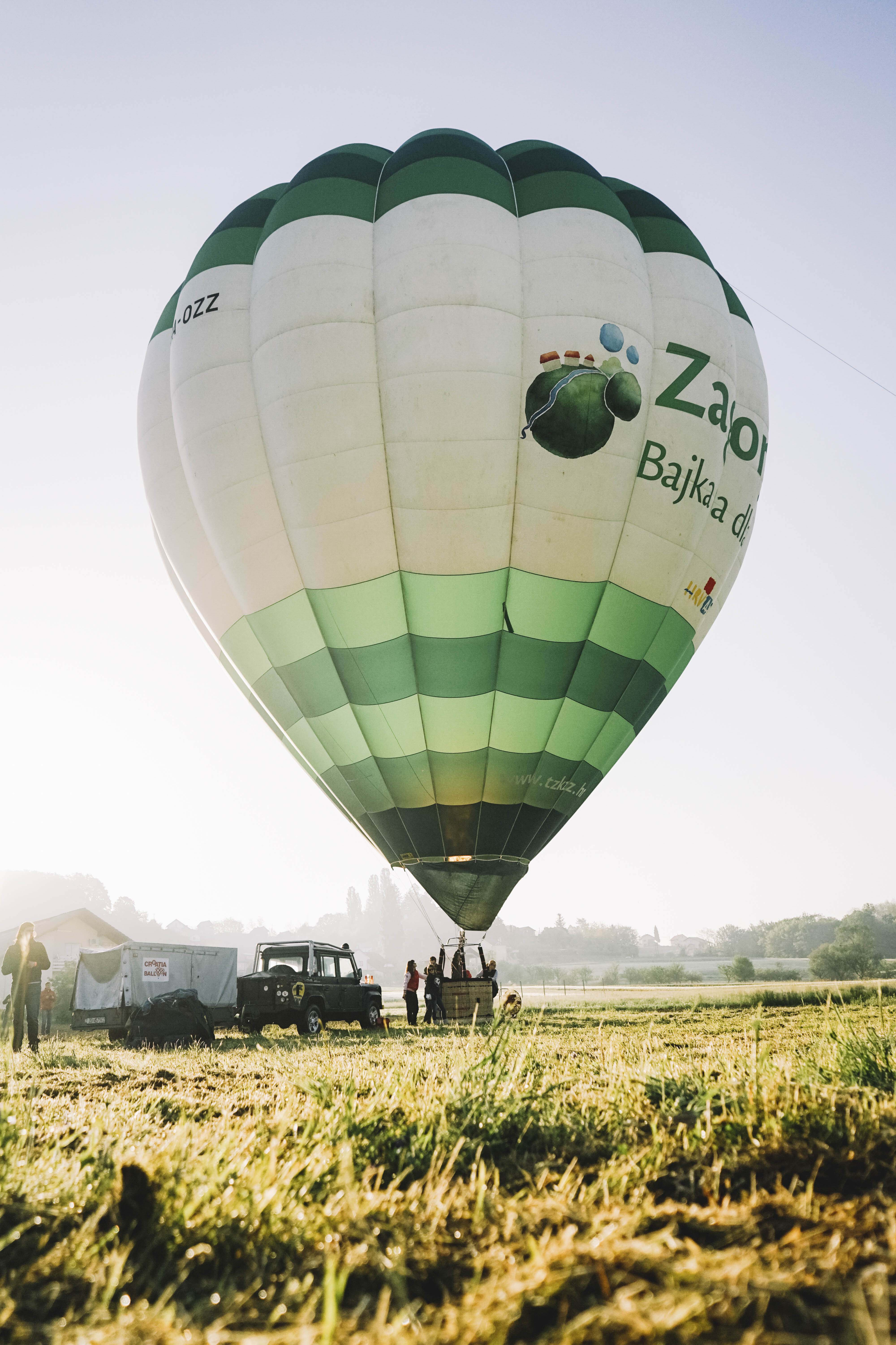 "Preparing ""Zagorje"" hor air balloon for flying."
